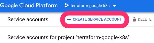 Google Cloud create service account