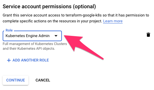 Google Cloud set service account permissions